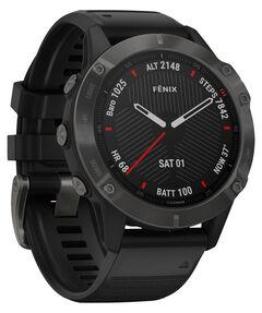 """GPS-Multifunktionsuhr """"Fenix 6 Sapphire"""" Schwarz/Schiefergrau"""