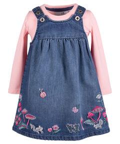 Mädchen Jeanskleid mit Langarmshirt