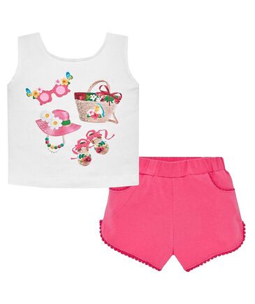 Mayoral Making Friends - Mädchen Baby Set  Shorts und Top