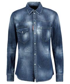 "Herren Jeanshemd ""Straight Western Denim Shirt"" Langarm"