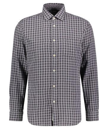 Marc O'Polo - Herren Freizeithemd Double Layer Regular Fit Langarm