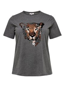"Damen T-Shirt ""Curvy Tiger"" - Plus Size"