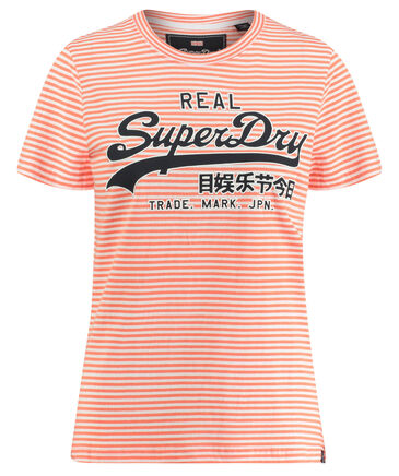 "Superdry - Damen T-Shirt ""Vintage Logo Stripe Entry Tee"""