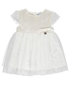 "Mädchen Baby Kleid ""Taufkleid Jacquard"" Kurzarm"