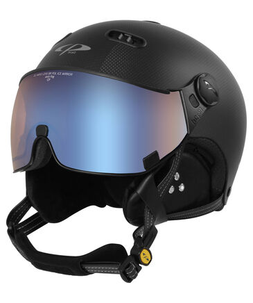 "CP - Skihelm ""CP Carachillo Carbon mit DL Brown Pol/Vario Ice Mirror"""