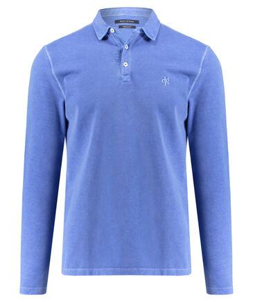Marc O'Polo - Herren Poloshirt Regular Fit Langarm