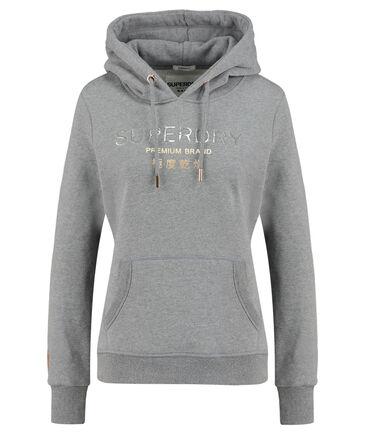 "Superdry - Damen Sweatshirt mit Kapuze ""Premium Brand Heat Seal Entry Hood"""