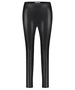 "Damen Flat Front-Hose ""Resa"" in Lederoptik"