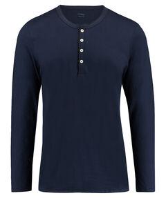 Herren Pyjama-Shirt Langarm