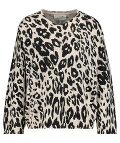 "Damen Pyjamaoberteil ""Soft Knit Sweater Printed Jaguar"" Langarm"