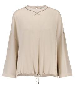 Damen Seiden-Bluse Langarm