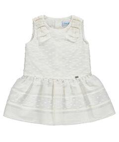 """Mädchen Baby Kleid """"Taufkleid Punkte"""" Ärmellos"""