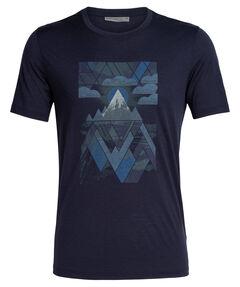 "Herren T-Shirt ""Tech Lite Short Sleeve Crewe Sunset Geo"""