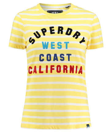 "Superdry - Damen Shirt ""West Coast Stripe Entry Tee"" Kurzarm"