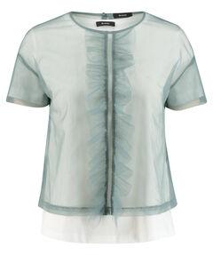 Damen Blusenshirt Kurzarm zweiteilig