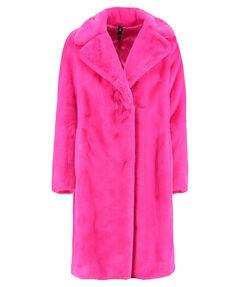 Damen Fake-Fur-Mantel