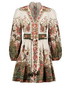 """Damen Leinenkleid """"Empire Batik Short Dress"""""""