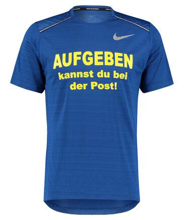 """Nike - Herren Laufshirt """"Aufgeben kannst du bei der Post"""" Kurzarm"""