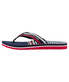 "Damen Slipper ""Stripy Flat Beach"""