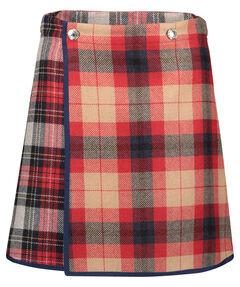 "Damen Wickelrock ""Icon Wool Check Mini Skirt"""