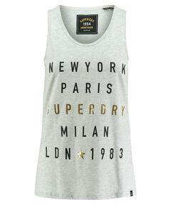 """Damen Tanktop """"City Letters Foil Vest"""""""