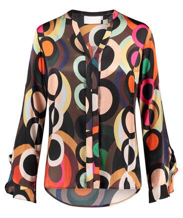 "IVI Collection - Damen Bluse ""Circle"" Loose Fit Langarm"