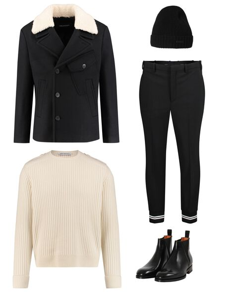 Outfit - Black Off White