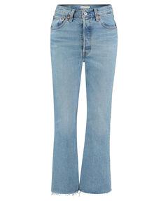 "Damen Jeans ""Ribcage Crop Flare"" High Waist Slim Fit"
