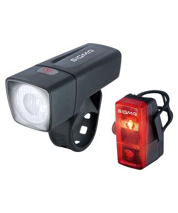 """Sigma - Fahrrad Beleuchtungsset """"Frontleuchte Aura 25 / Rückleuchte Cubic Komplett-Set"""""""