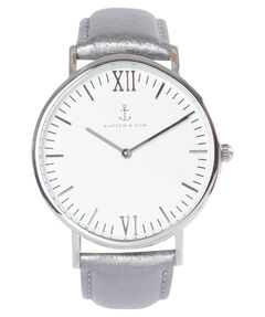 "Damen Uhr ""Campus Silver Metallic Leather"""