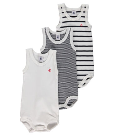 Petit Bateau - Baby Body 3er Pack ärmellos