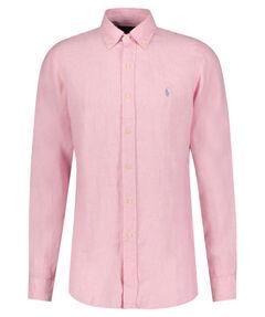 Herren Leinenhemd Custom Fit Langarm
