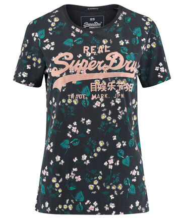 "Superdry - Damen T-Shirt ""Vintage Logo Daisy AOP Entry Tee"""