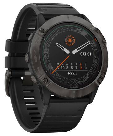 "Garmin - GPS-Multifunktionsuhr ""Fenix 6X Pro Solar""  Schwarz/Schiefergrau DLC, Titan-Lünette"