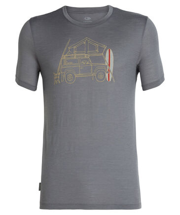 "Icebreaker - Herren Outdoor-Shirt ""Tech Lite Short Sleeve Crewe Surfspot Camper"" Kurzarm"