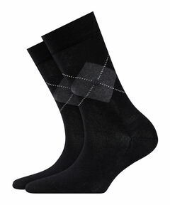 """Damen Socken """"Black Argyle"""""""