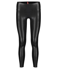 "Damen Leggings ""Faux Leather Side Stripe"""