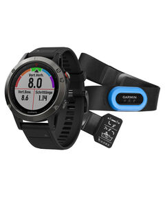 """GPS-Multifunktionsuhr """"fēnix 5"""" grau/schwarz, mit HRMTri Bundle"""