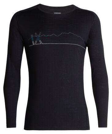"Icebreaker - Herren Funktionsunterhemd ""200 Oasis Deluxe Raglan Long Sleeve Crewe  Single Line Ski"" Langarm"