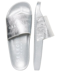 "Damen Pantoletten ""SLFSteph Leather Slider"""
