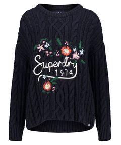 """Damen Pullover """"Floral Handcraft Cabel Jumper"""""""