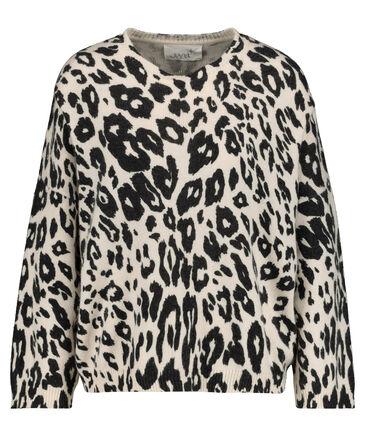 "Juvia - Damen Pyjamaoberteil ""Soft Knit Sweater Printed Jaguar"" Langarm"