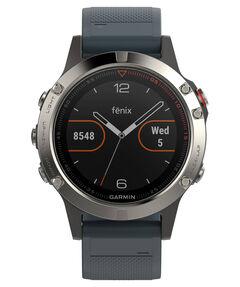 """GPS-Multifunktionsuhr """"fenix 5"""" silber/blau"""