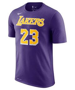 "Herren Basketballshirt ""LeBron James Los Angeles Lakers Nike Dri-FIT"" Kurzarm"