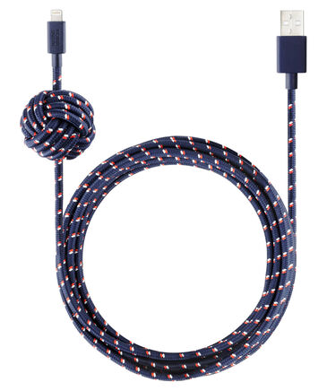 """Native Union - Ladekabel """"Night Cable-Lightning Navy Nautical"""
