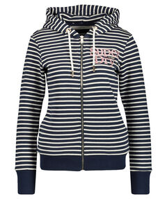"Damen Sweatjacke mit Kapuze ""Applique Serif Ziphood UB"""