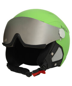 "Skihelm/Snowboardhelm ""Backline Visor soft Green with Silver Gun Visor + Lemon Visor"""