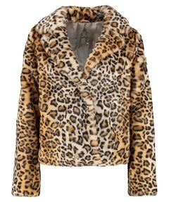 "Damen Webpelzjacke ""Fake Fur Fashion Leo Jacket"""