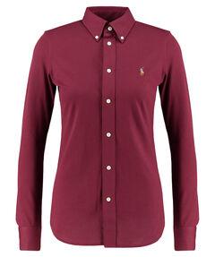 Damen Button-Down-Bluse Langarm Slim Fit