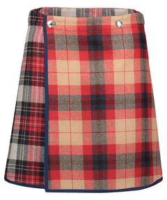 "Damen Wickelrock ""Icon Wool Check Mini Skirt"""